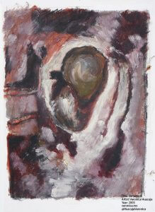"Title: Metastasis Artist: Veronica Huacuja Media: Oil on paper Year: 2003 Dimensions: 13 X 15.7"" veronica.mx @HuacujaVeronica, #VeronicaHuacuja"