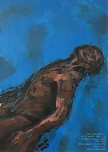 Title: Body Study 9 Media: Acrylic on paper Year: 2003 Size: 100 x 70 x 0.1 cm