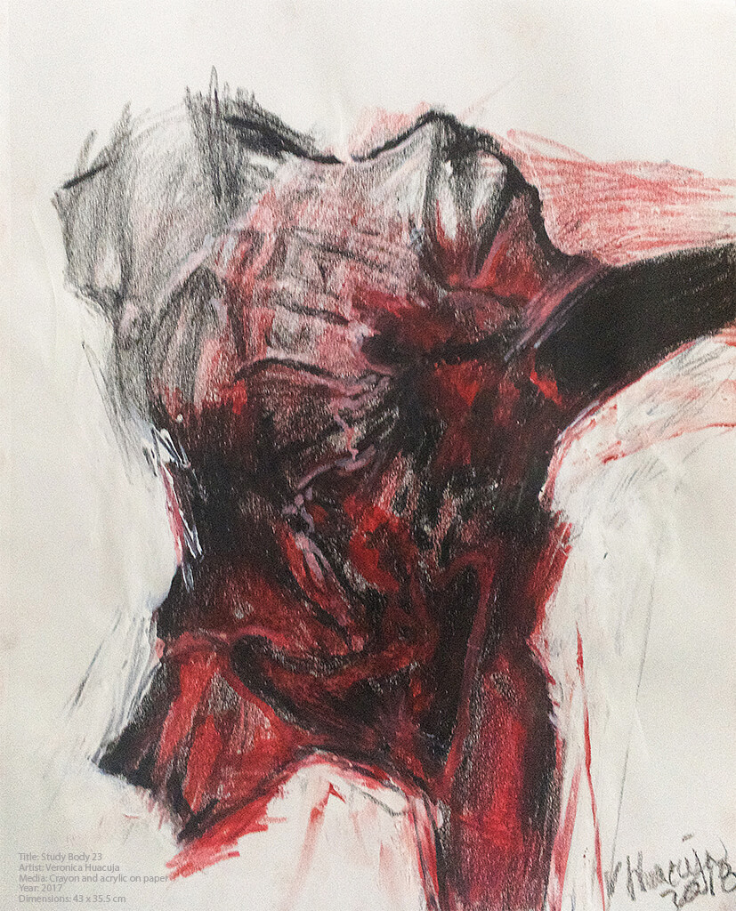 Title: Body Study 37 Medium: Crayon and acrylic on paper Size: 43 x 35.5 x 0.1 cm Year: 2017 #oilpaint, #oilpainting, #oils, #oilpainter, #contemporaryart, #abstractpainting, #contemporaryart, #curator, #collector, #VeronicaHuacuja