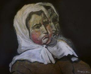 Title: Head Study 79 Artist: Veronica Huacuja Medium: Acrylic on canvas Size: 125 x 102 x 3 cm Year: 2009