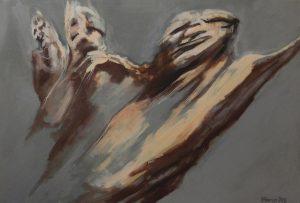 Title: Body Study 62 Artist: Veronica Huacuja Medium: Acrylic on canvas Size: 120 x 80 x 1.5 cm Year: 2019 #itondo, #VeronicaHuacuja, #saatchiart, #1340gallery, #nudity, #humanbody, , #noirpainting, #artsgallery, #contemporaryartist, #millenialartcollector, #acrylicpainting, #artcollector, #acryliconcanvas, #contemporaryartist, #humanbody, #curator, #paintoftheday