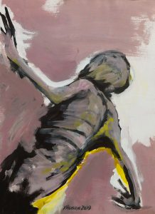 Title: Body Study 67 Artist: Veronica Huacuja Medium: Acrylic on paper Size: 34.5 x 46 x 0.1 cm Year: 2019