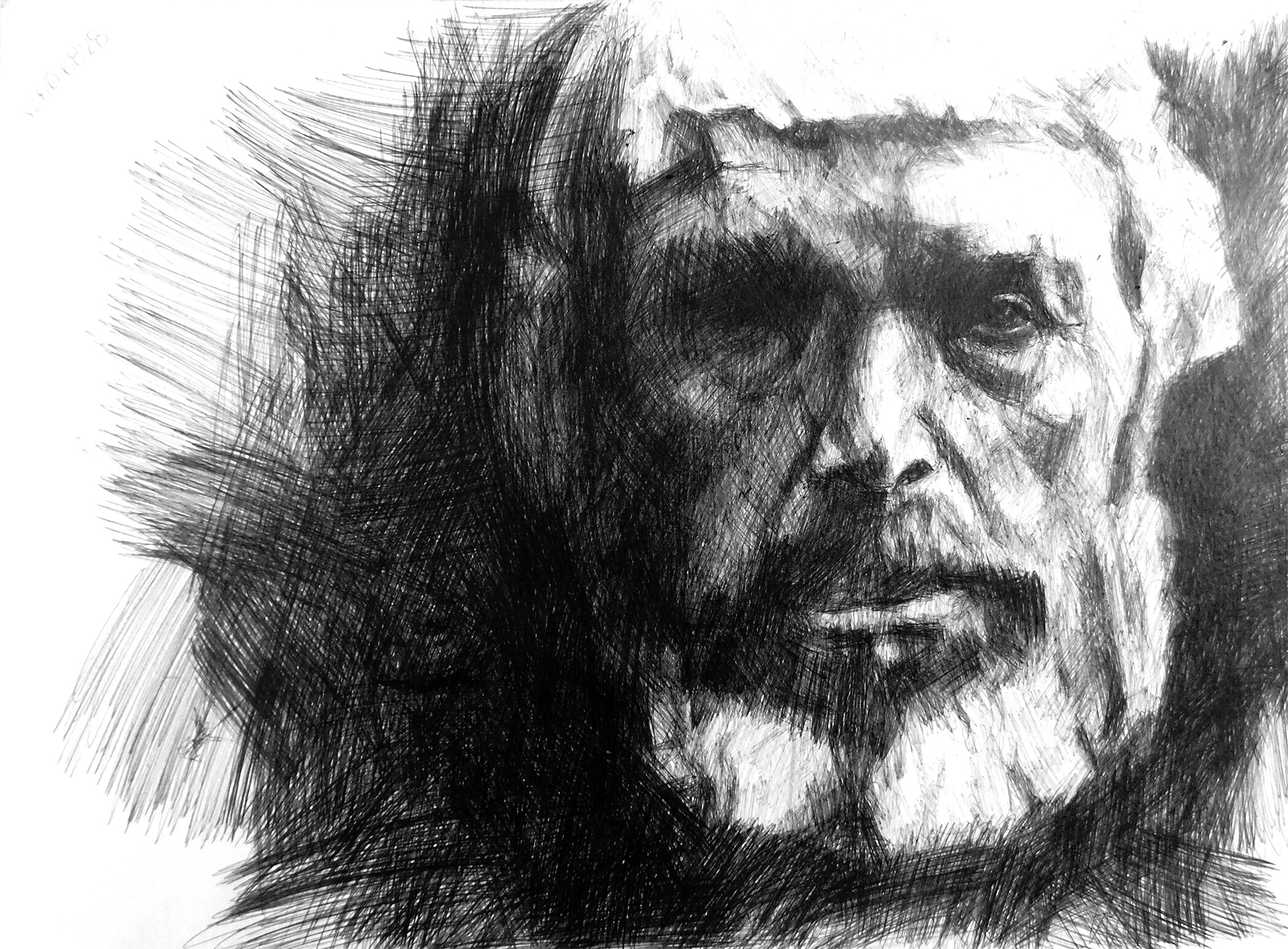 Study of a Portrait 25; Ink on paper; 24 x 32 x 0.1 cm; 2005
