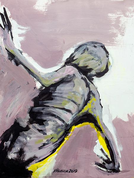 Title: Body Study 67 Artist: Veronica Huacuja Medium: Acrylic on paper Size: 34.5 x 46 x 0.1 cm Year: 2019 Value: